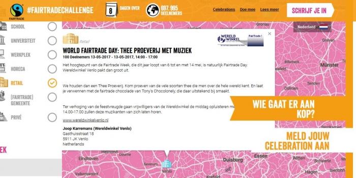 Wereldwinkel Venlo viert de World Fairtrade Week